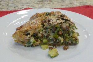 Zucchini & Greens Torte