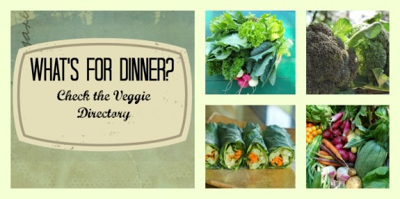 What's For Dinner Veggie Directory