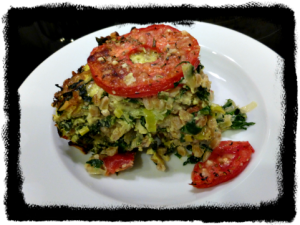 Three Greens Gratin Farro