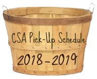 CSA Pickup Info